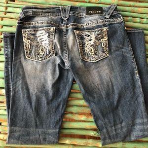 Super cute & flexible boot cut/flare jeans